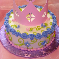 "Little Princess Smash Cake  This was a 6"" 1 layer smash cake I did for a friend.. It made just as big as mess in my kitchen as a regular size cake!! NO MORE Smash..."