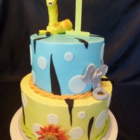 "Tanners 1St 6"" & 8"" Buttercream frosted with fondant accents."