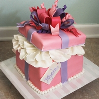 Girly Gift Box   Really loved making this cake! Best reaction from a client, ever! TFL!