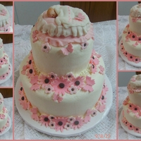Pink & Brown Baby Shower WASC with buttercream dream and fondant accents!