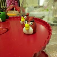 Angry Birds Cupcake Toppers Red Bird Angry birds cupcake toppers - red bird!