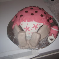 Another Baby Rump Cake Made with the help of a tutorial here on Cakecentral!