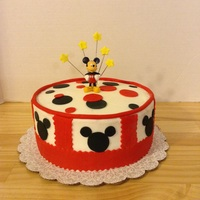 Mickey Mouse   Butter cream with MMF accents and toy
