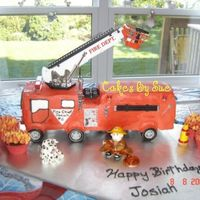 Fire Truck With Working Lights And Siren. Chocolate cake with Italian Meringue icing. This is my first fire truck and my first one with working lights and siren done for my grandson...