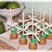 Caramel Apple Cake Pops
