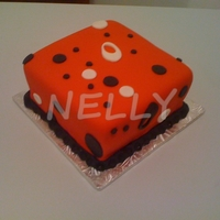 Red Birthday Cake Cake decorated in red fondant, simple details in fondant.
