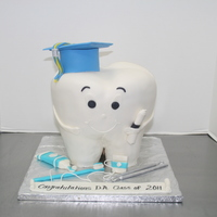 Dental Assistant Grad Cake This was made for a dental assisting graduating class. They gave me several pictures and this is what came out of their suggestions. The...