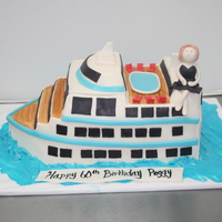 Cruise Ship Cake This cake was made to surprise a very special friend. Her and her hubby go on cruises all the time. She was VERY suprised when I showed up...