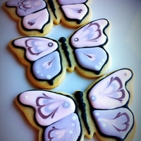 Butterfly Babtism NFSC with royal icing, for a baby babtism. TFL!!!