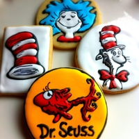 Dr. Seuss Cookies Inspired by Sweet Sugarbelle's fabulous Dr. Seuss cookies!