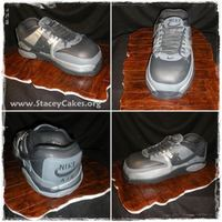 Nike Grooms Cake Here is a cake I did for a co-worker. Her future husband was really into shoes, all the grooms men wore these shoes so the thought it would...