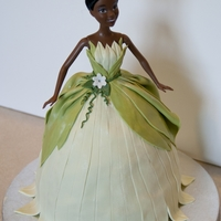 Princess Tiana Barbie Cake I've never been a big fan of Barbie cakes, but had SO MUCH fun making this one. It was all about the dress and draping fondant.