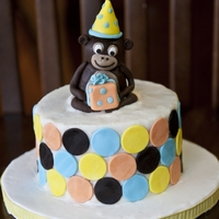 Monkey Smash Cake Smash cake for a first birthday boy! Buttercream icing, fondant details.