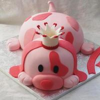 Pink Puppy Birthday Cake Thank You Beccachris For The Inspiration O Pink Puppy Birthday Cake! Thank you BeccaChris for the inspiration! =o)