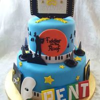 85Th Broadway Themed Cake Special Nod To Fiddler On The Roof 85th Broadway Themed cake, special nod to Fiddler on the roof