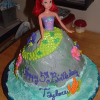 Taylore Classic Doll cake in Mermaid form. All buttercream.