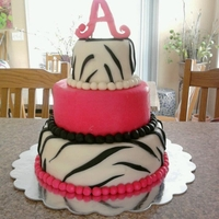 Pink Zebra Print Cake This cake was requested by my client. All MMF.