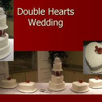 Double Hearts Wedding  For my cousin's wedding. She picked out q2ggirl's cake from this site as the one she wanted to go with her double hearts theme....