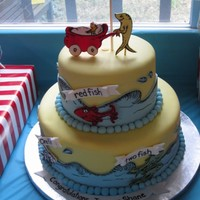My Daughters Dr Seuss Themed Baby Shower Cake My daughter's Dr. Seuss themed baby shower cake.