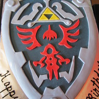 Legend Of Zelda Shield Lemonaid cake with lemon curd filling