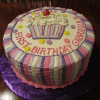 Cupcake Theme Birthday Cake