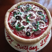 Lenin's Pizza Cake Made this one for my son in law