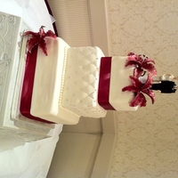 Rosie 3 tier wedding cake delivered to Harrison Hot Springs Resort