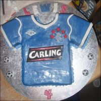 Rangers Cake For Lewis i rangers football top i made for wee lewis's 4th birthday