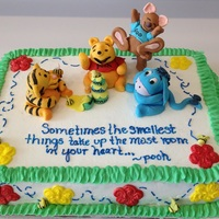 Winnie The Pooh And Friends Iced In Buttercream Fondant Used For Characters Winnie the Pooh and Friends, iced in buttercream, fondant used for characters