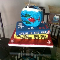 Dr. Seuss One Fish, Two Fish, Red Fish, Blue Fish This cake was made from a photo that was given to me to duplicate. The Dr. Seuss book One fish ,Two Fish, Red Fish, Blue Fish. Bokks are...