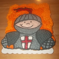 The Knight At Dawn Cake These are chocolate chip cupcakes with vanilla buttercream frosting. This cake is based on a book from the Magic Treehouse Series. I am...
