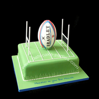 "Rugby Union Bar Mitzvah Cake 12""x10"" rich fruit cake - this bad boy weighed over 7kg (15lb) just marzipanned - before the icing, covered board or topper. The..."