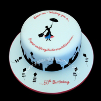 Mary Poppins Themed Cake This was ordered by the mum of a friend of mine. Anyone who knows Sharron, knows how she's a real Mary Poppins and the children she...