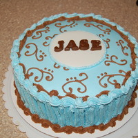 Boy Baby Shower All butter cream with chocolate letters