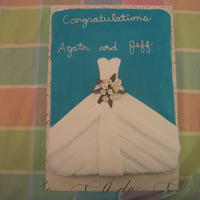 Tiffany's Bridal Shower This is a double layer vanilla butter cake and double chocolate cake. The bride wanted a cake to match her Tiffany's blue theme. The...
