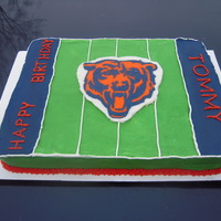 Chicago Bears Birthday Cake A Chicago Bears cake made for a fan.Bears logo is a frozen buttercream transfer.Go Bears!