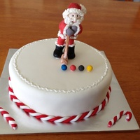 Croquet Santa A cake for my mother's croquet club... Santa playing croquet