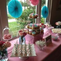 Girl Baby Shower Dessert Table *Girl baby shower dessert table