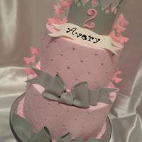 Princess Cake Buttercream base with fondant accents/decoratiosn