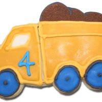 Dump Truck Cookies Made for a friend's son 4th Birthday