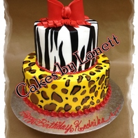 Animal Print Tired Cake With Bow LEAD Technologies Inc. V1.01