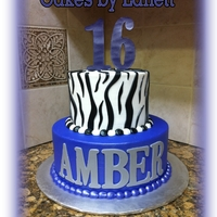 "Purple & Zebra Sweet ""16"""