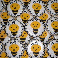 Bumble Bee Cookies For A Birthday Girl Turning One My Customer Found Bumble Bee Cookies Online And Asked If I Could Make Them A Big Than Bumble Bee cookies for a birthday girl turning one! My customer found bumble bee cookies online and asked if I could make them. A big THANK...