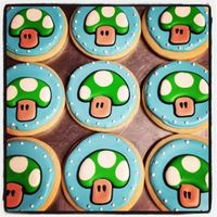 One Up Mushroom Cookies Done For My Sons Birthday I Had Fun Doing These One-Up Mushroom cookies done for my son's birthday. I had fun doing these.