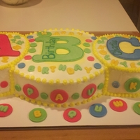 Abc Cake   For Anya and Charlie's birthday.