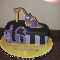 Shoe Box Cake Chocolate Sponge Cake with Gumpaste Shoe