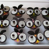Owl Cupcakes Numerous photos found online, inspired by Hello Cupcake's book