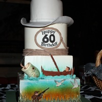 Cowboy Fishing Hunting Cake For A Male Iced In Imbc Decorations In Fondantmodeling Chocolate Cowboy / Fishing / Hunting cake for a male. Iced in IMBC, decorations in fondant/modeling chocolate.