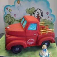 Old Fashioned Truck Baby Shower Cake