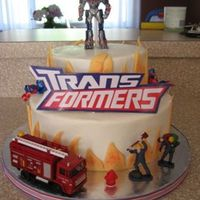 Transformers/fire Truck  I made this for my son's 5th birthday. He is REALLY into Transformers AND fire trucks so I did a combination for his b-day. And my...